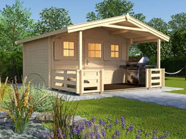 Weka Gartenhaus 110 Gr. 1 Vordach+Terrasse