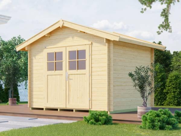 Weka Gartenhaus 112 Gr 5 Vordach 20 cm