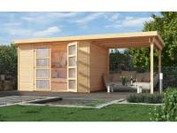 Weka Gartenhaus 321 Größe 4 natur Anbau 230 cm