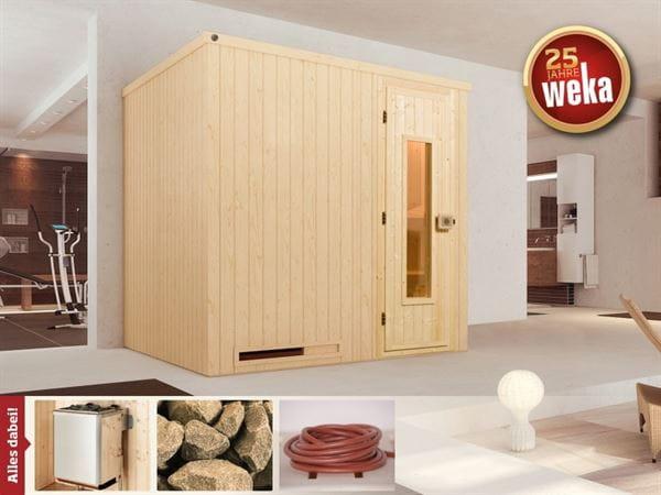 Weka Sauna Halmstad 2 HT inkl. 9 kW Ofen mit Ofenanschlusskabel