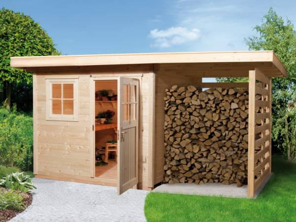 Weka Gartenhaus 170 Größe 2 mit Schleppdach
