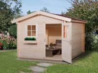 Weka Gartenhaus 106 Gr 5 Vordach 20 cm 28 mm