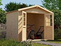 Weka Gartenhaus 218 Größe 3 mit Doppeltür 28 mm wekaLine natur