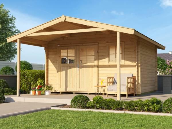 Weka Gartenhaus 111 Gr. 2 Vordach 200 cm