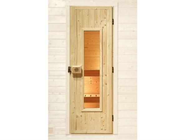 Weka Sauna Massivholztür isoliert, mit Glaseinsatz