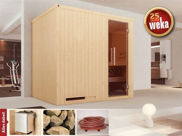 Weka Sauna Halmstad 2 GT inkl. 9 kW Ofen mit Ofenanschlusskabel