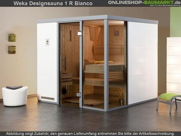 Weka Wellnissage Premium Designsauna 1R Bianco ohne Ofen inkl. Montage