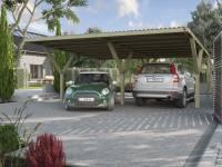 Weka Y-Doppelcarport inkl. PVC Kunstoffdach