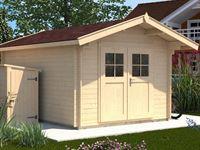 Weka Gartenhaus 112 Gr 3 Vordach 60 cm