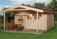 Weka Gartenhaus 136 Gr. 2 Vordach 200 cm
