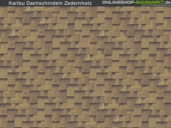 Karibu Dachschindeln Asymetrisch Zedernholz 1 Paket