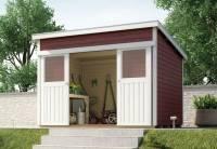 Weka Gartenhaus 225 Größe 1 schwedenrot
