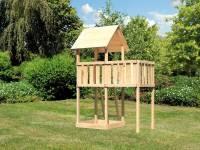 Akubi Spielturm Lotti natur mit Anbauplattform