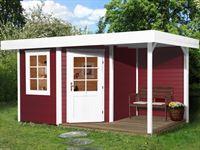Weka Gartenhaus 5-Eck-Haus Fides 2 Gr 2 schwedenrot Anbau 150 cm