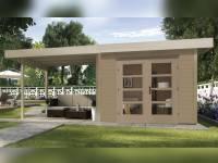 Weka Gartenhaus 126 Gr. 1 mit Anbaudach 300 cm