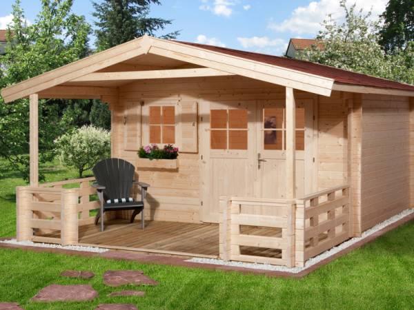 Weka Gartenhaus 110 Gr. 1 Vordach + Terrasse 200 cm
