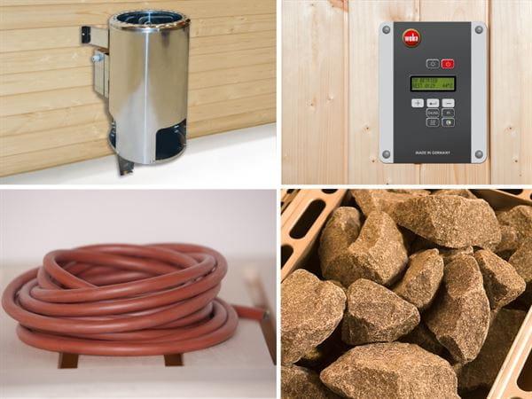 Weka Ofenset 1 - 3,6 kW ext. Steuerung, Kabel, Steinen