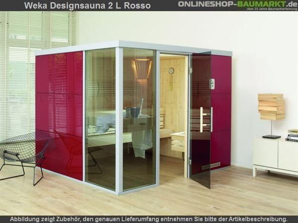 Weka Wellnissage Premium Designsauna 2L Rosso ohne Ofen inkl. Montage