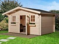 Weka Gartenhaus 135 Gr. 1 Vordach 60 cm