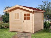 Weka Gartenhaus 106 Gr 4 Vordach 60 cm 28 mm
